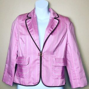 Express Design Studio Pink Pinstriped Blazer